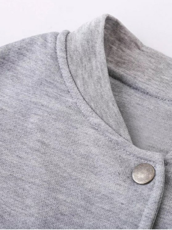 Alien Patched Jacket - LIGHT GRAY XL Mobile