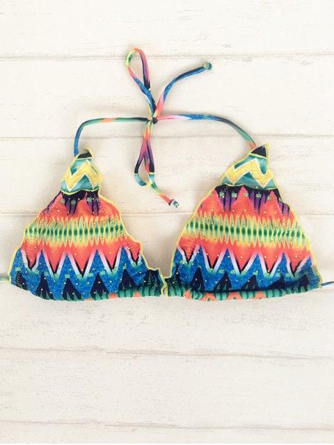affordable Zig Zag Halter String Bikini - COLORMIX L Mobile