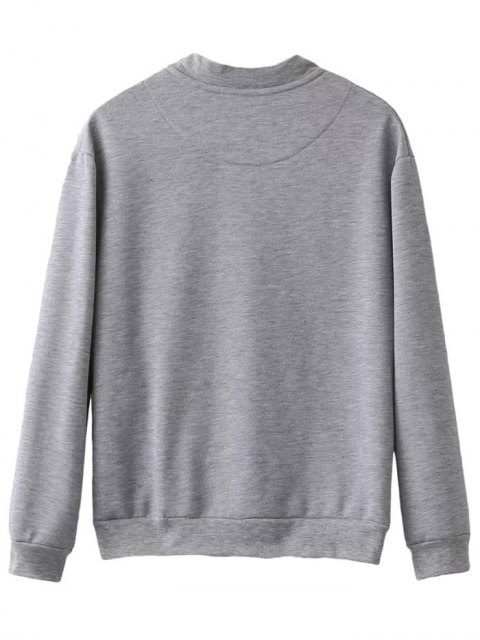 outfit Alien Patched Jacket - LIGHT GRAY XL Mobile