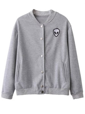 Alien Patched Jacket - Light Gray