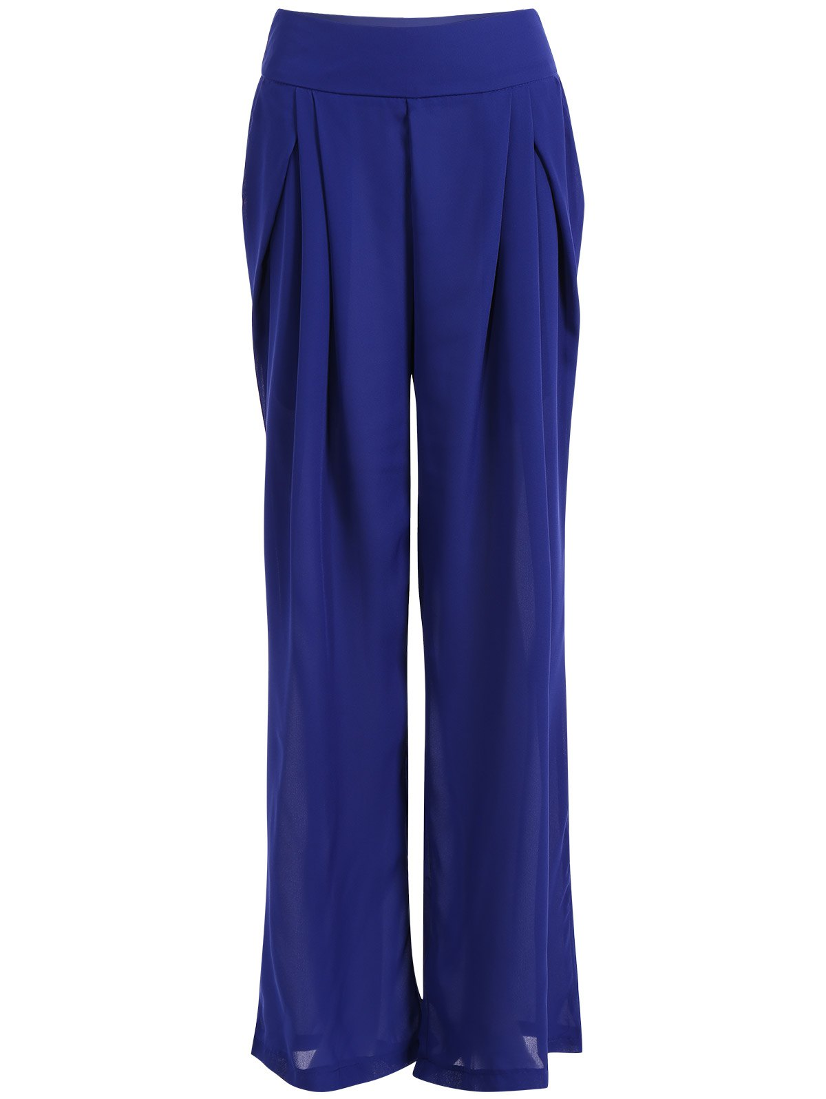 High Waisted Chiffon Culotte Pants