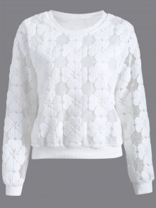 Flocked Mesh Sweatshirt