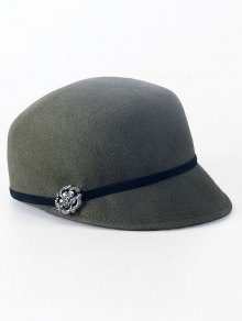 Buy Rhinestone Lace-Up Horsemanship Hat ARMY GREEN