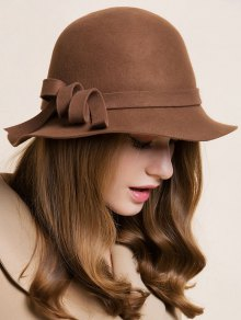 Curved Band Cloche Hat - Coffee