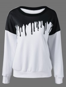 Printing Drop Shoulder Sweatshirt