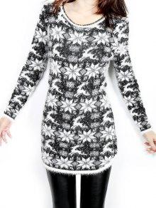 Jacquard Christmas Sweater - Black