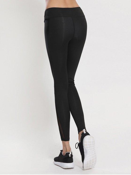 Bodycon Yoga Voile Leggings - BLACK XL Mobile