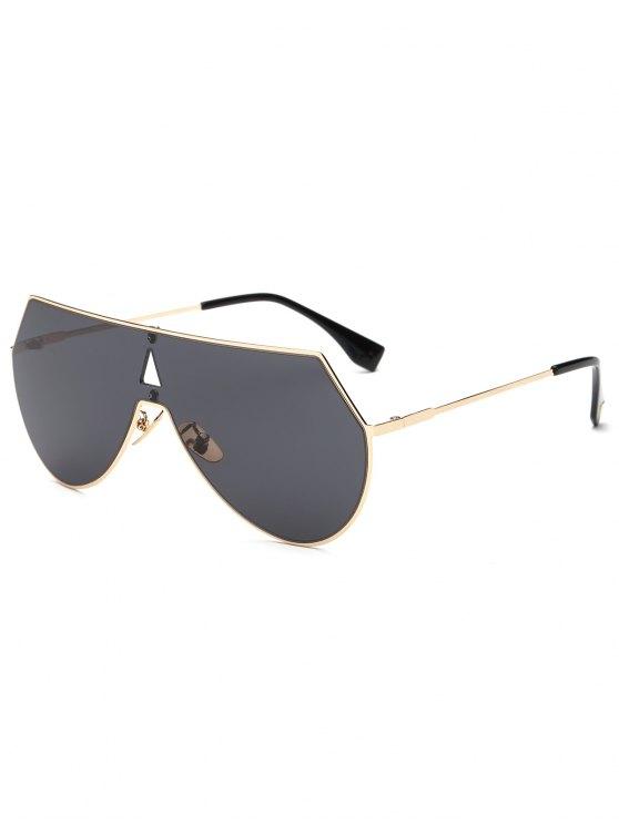 Huecas Blindaje del triángulo de las gafas de sol - Dorado