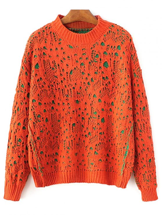 Pull-over ras du cou large - Tangerine TAILLE MOYENNE