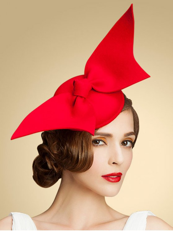 Butterfly Knot Cocktail Hat - Red