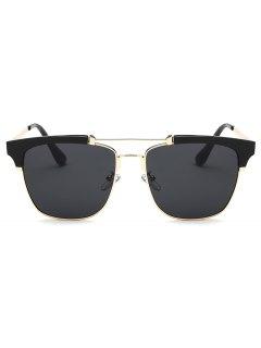 الإطار المعدني فراشة النظارات الشمسية - أسود