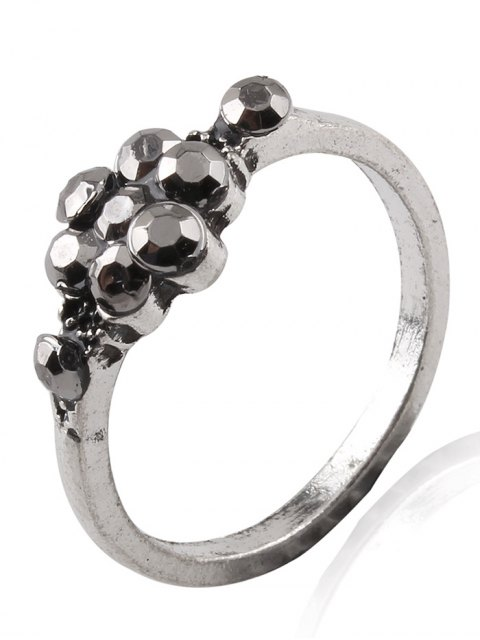 affordable Elephant Crucifix Flower Water Drop Rings - SILVER ONE-SIZE Mobile