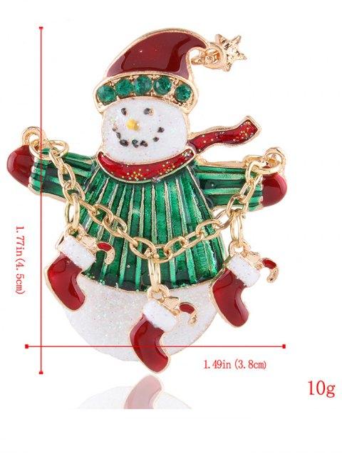 best Star Christmas Shoes Snowman Rhinestone Brooch -   Mobile