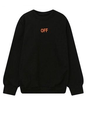 V Print Sweatshirt - Black
