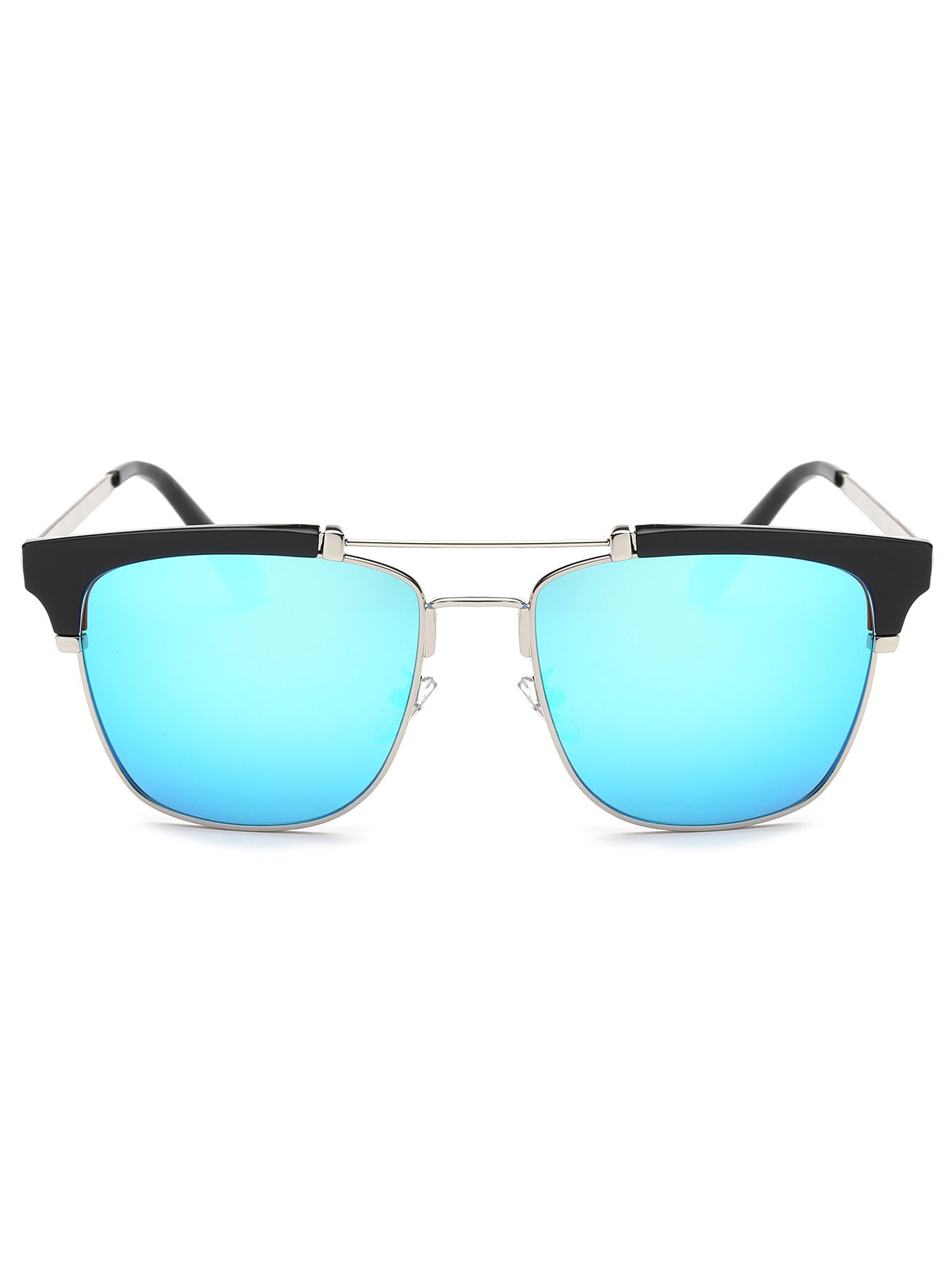 Metal Frame Butterfly Mirror Sunglasses