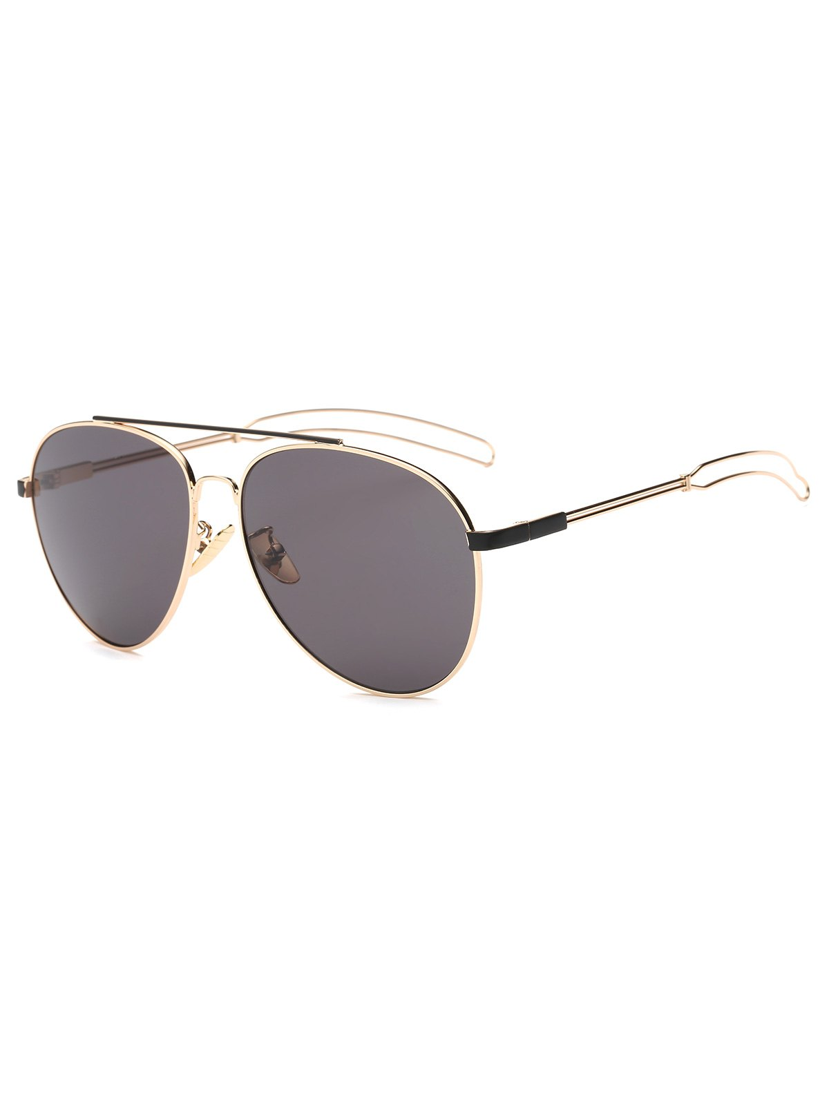 Hollow Out Leg Pilot Sunglasses