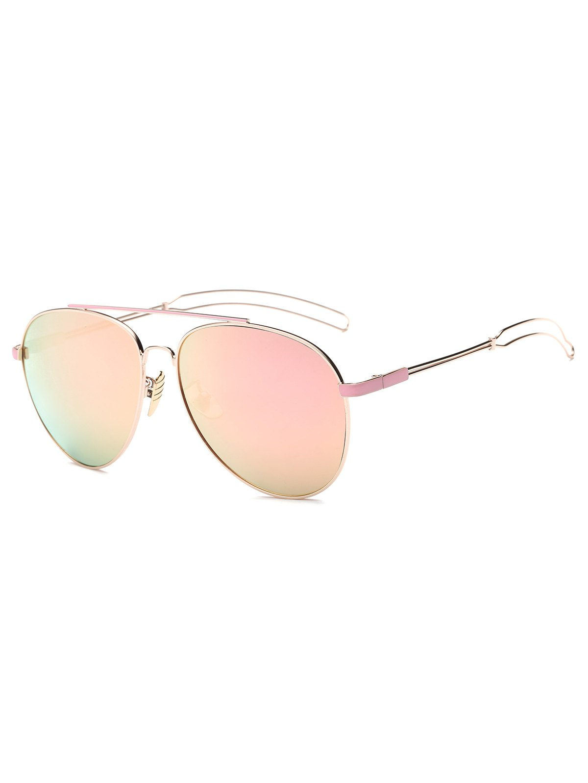 Hollow Out Leg Pilot Mirror Sunglasses