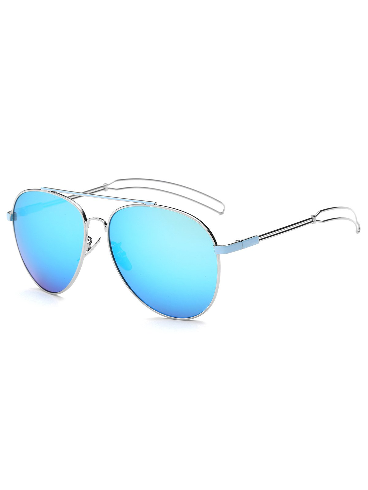 Hollow Out Leg Pilot Mirror Sunglasses