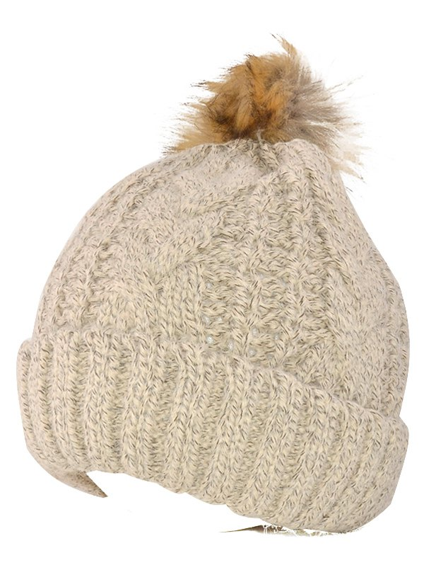 Beanie Knitted Fuzzy Ball Hat