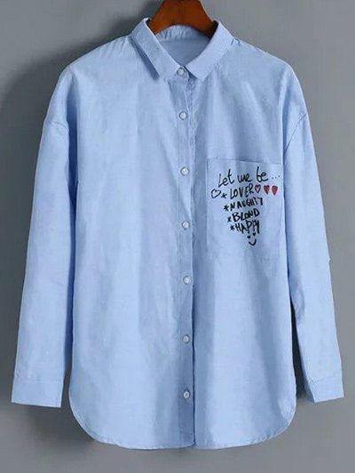 Button Up Graphic Shirt