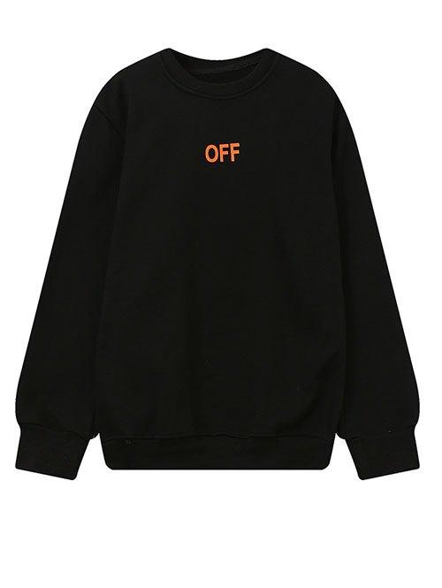 Crew Neck V Print Sweatshirt