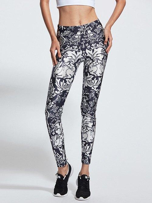 Animal Print Skinny Sports Pants