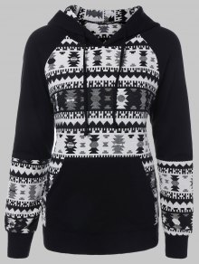 Plus Size Tribal Pullover Hoodie