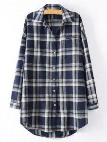 Plus Size Tartan Checkered Shirt
