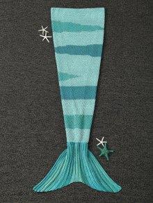 محبوك التفاف الاطفال حورية البحر الذيل بطانية - اخضر فاتح