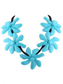 Buy Flower Resin Embellished Necklace BLUE