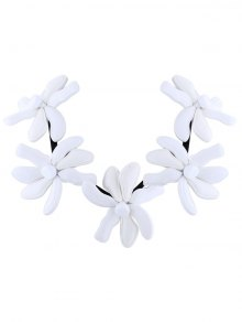 Buy Flower Resin Embellished Necklace WHITE