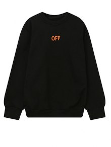 V Print Sweatshirt - Black