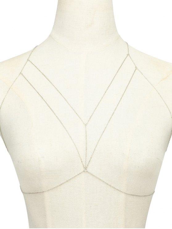 lady Geometric Adorn Body Chain - SILVER