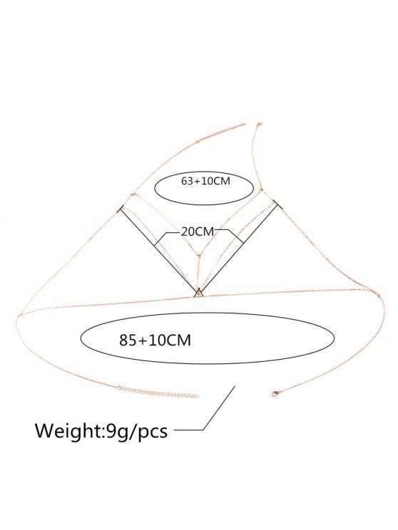 Geometric Adorn Body Chain - GOLDEN  Mobile