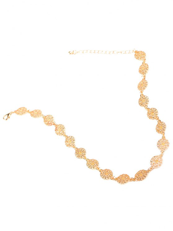 Filigree Floral Choker - CHAMPAGNE  Mobile