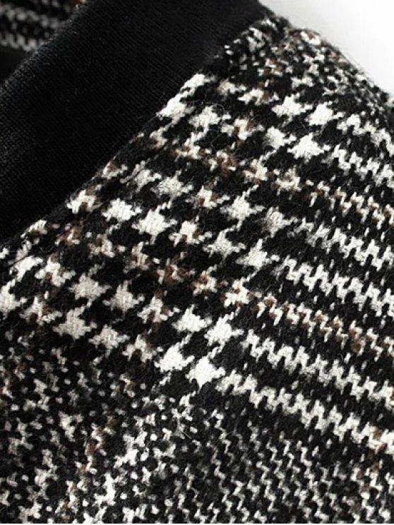Houndstooth Letter Patched Jacket - COLORMIX L Mobile