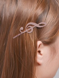 Music Note Alloy Hair Accessory - Rose Gold