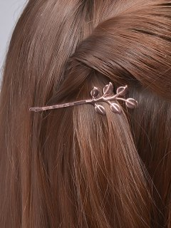 Leaves Alloy Hair Accessory - Rose Gold