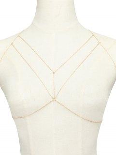 Geometric Adorn Body Chain - Golden
