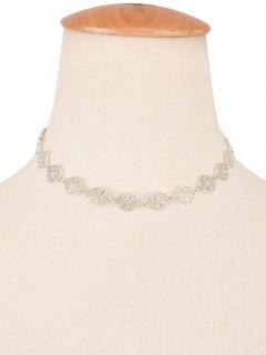 Filigree Floral Choker - Silver