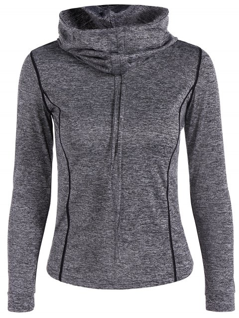 fancy Sports Drawstring Hoodie - GRAY S Mobile