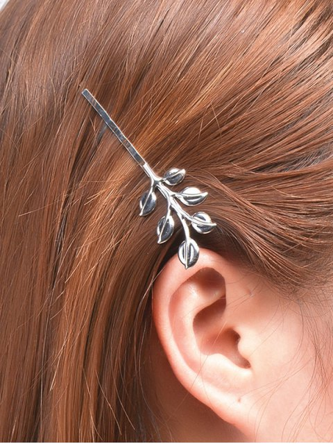 affordable Leaves Alloy Hair Accessory - SILVER  Mobile