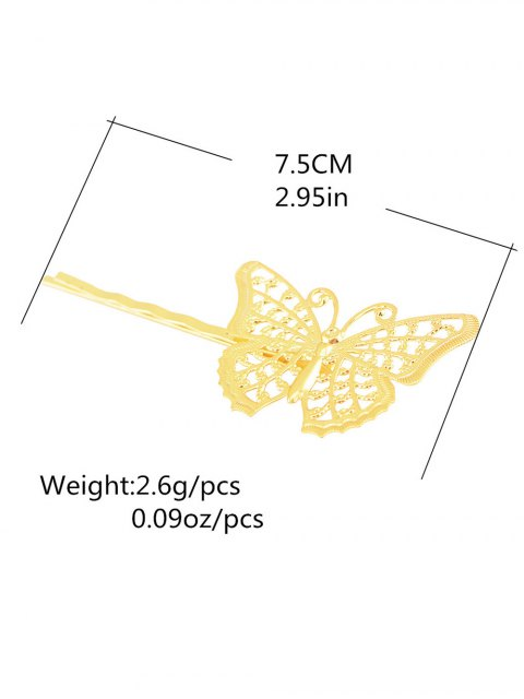 womens Butterfly Alloy Hair Accessory -   Mobile