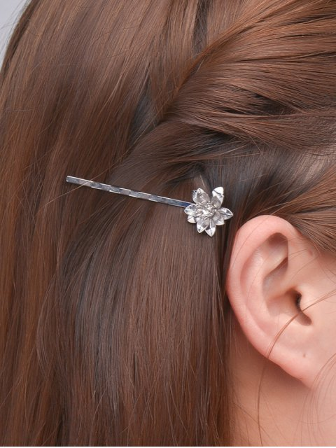 lady Floral Alloy Hair Accessory - SILVER  Mobile