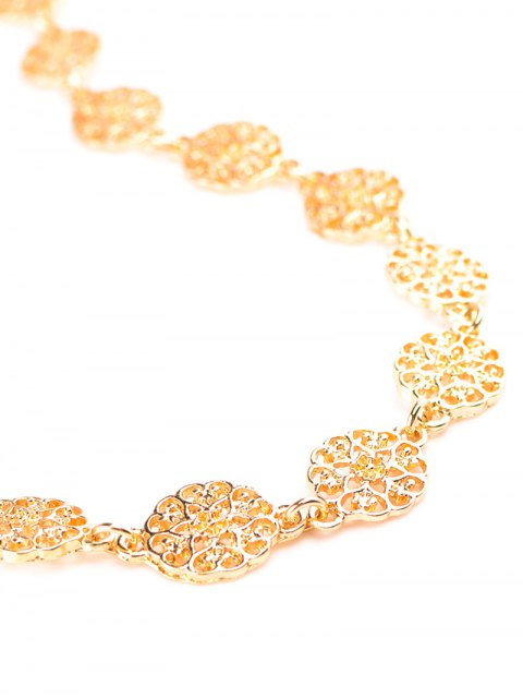 womens Filigree Floral Choker - CHAMPAGNE  Mobile
