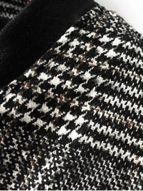 buy Houndstooth Letter Patched Jacket - COLORMIX L Mobile
