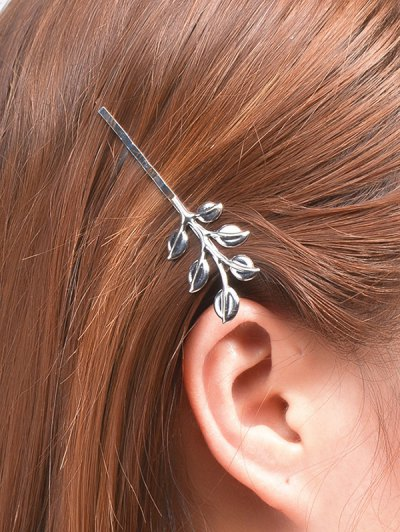 Leaves Alloy Hair Accessory - SILVER  Mobile