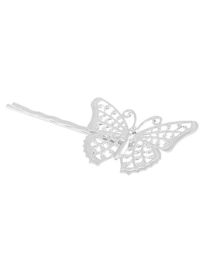 Butterfly Alloy Hair Accessory - SILVER  Mobile