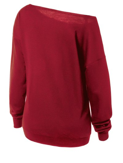 Witches Halloween Sweatshirt - RED M Mobile
