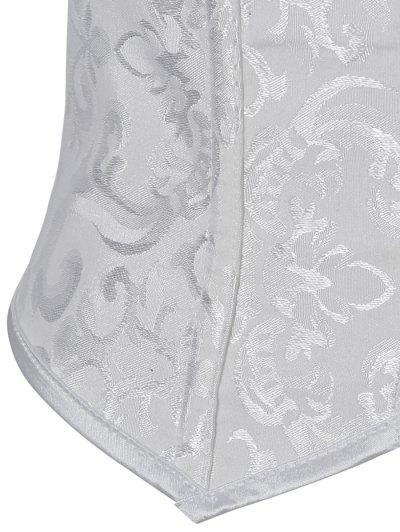Paisley Shapewear Lace Up Corset Vest - WHITE 2XL Mobile